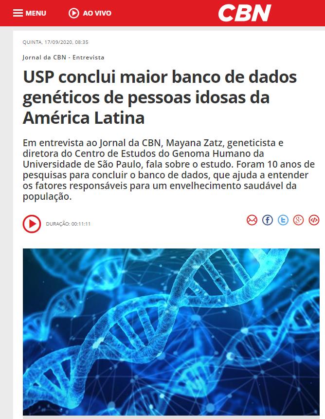 USP conclui maior banco de dados genéticos de pessoas idosas da América Latina