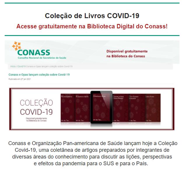 Livros Digitais Gratuitos Covid-19 para ILPI'S