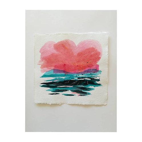 Early riser 3, 15 x 15 cm, Original Artwork