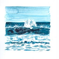 mini turquoise wave