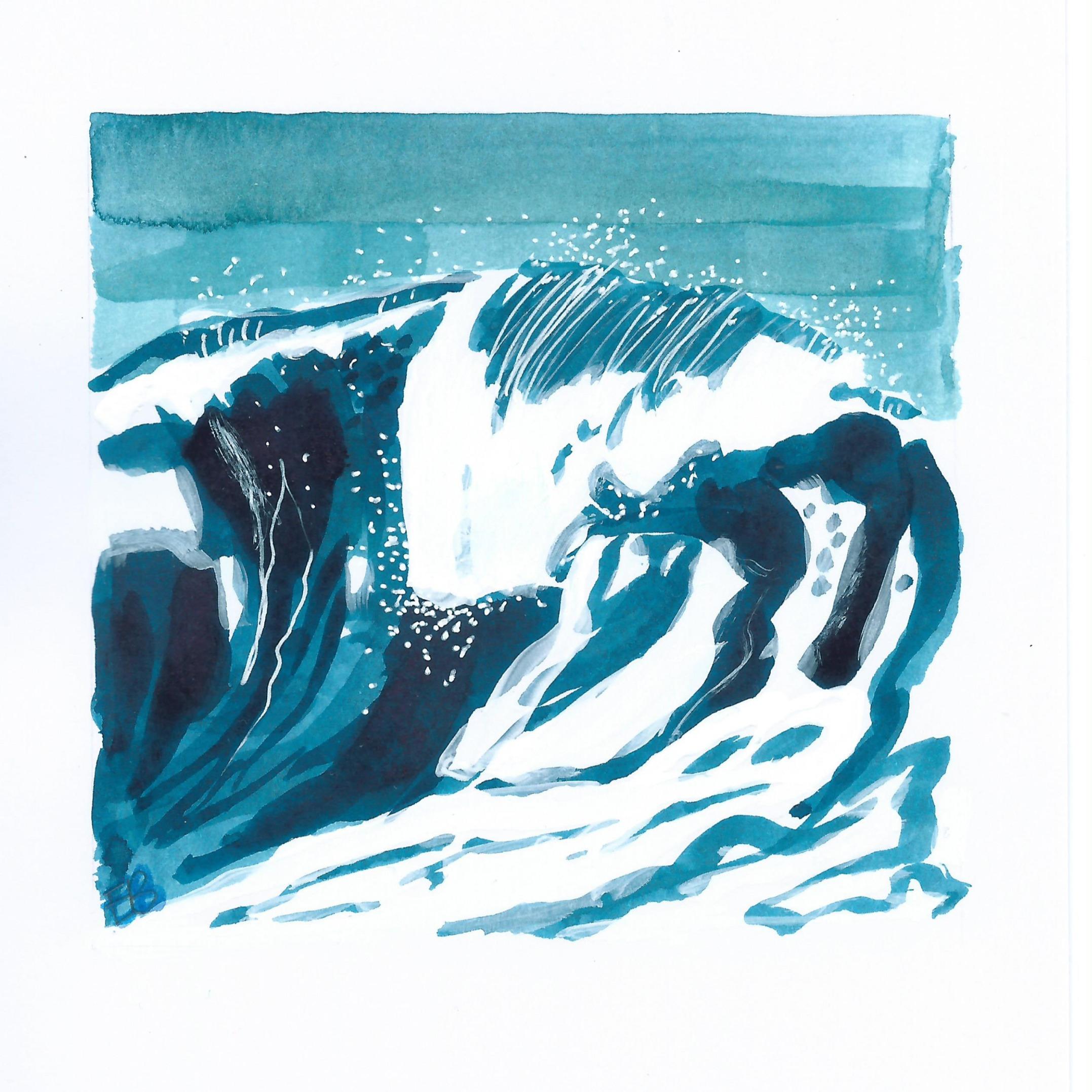 mini turquoise wave III