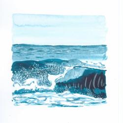 mini turquoise wave II