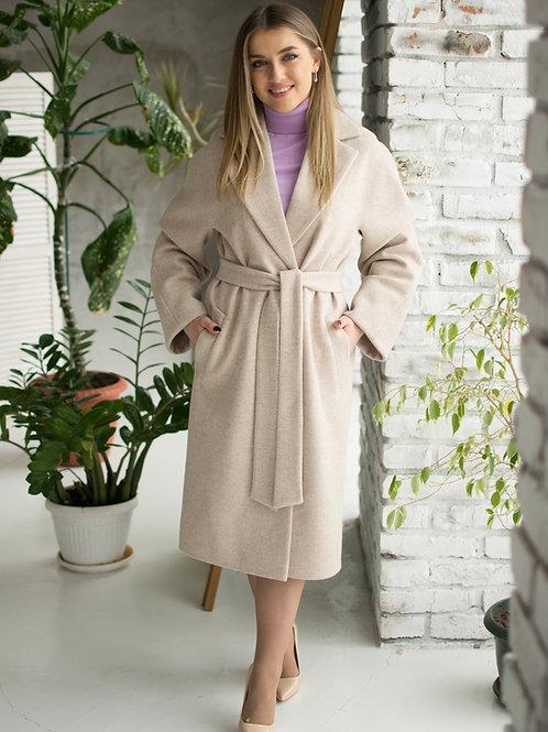 Пальто женское демисезонное длинное