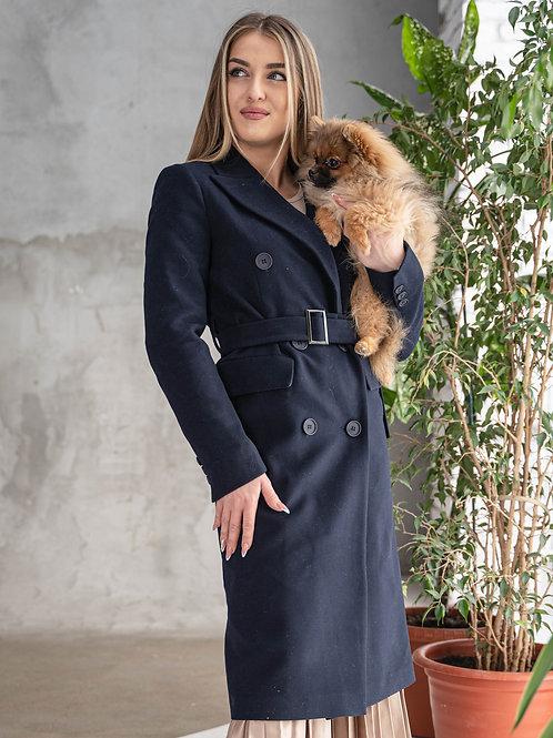 Пальто длинное женское демисезонное
