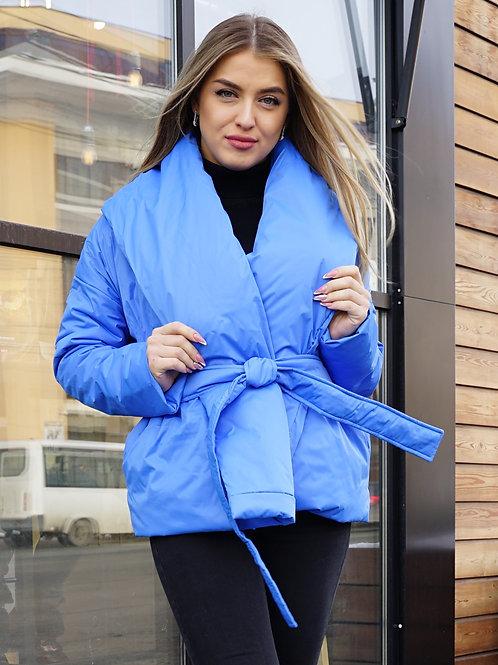 Куртка женская весенняя голубая