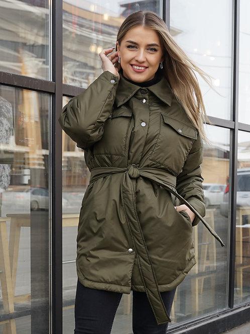 Куртка-рубашка женская хакки