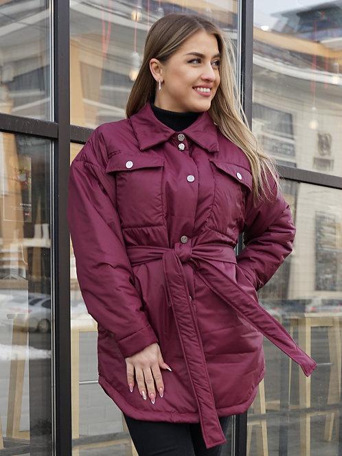 Куртка-рубашка женская оверсайз