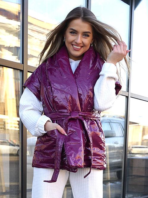 Жилет-кимоно с поясом