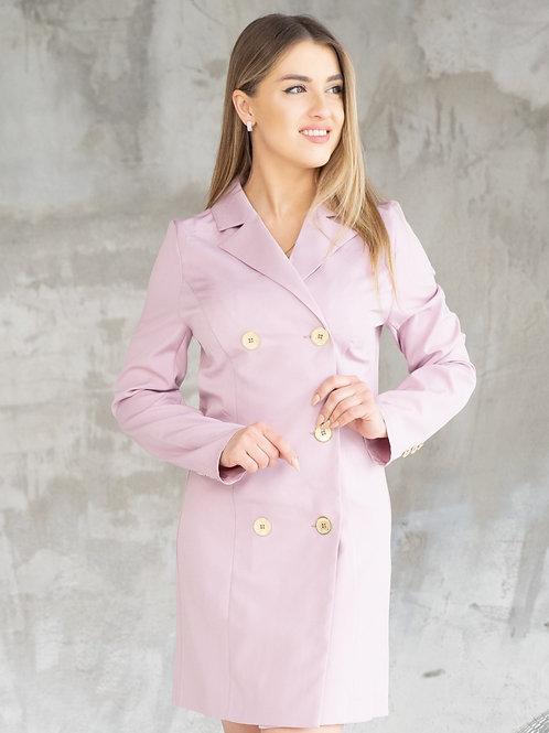 Платье-пиджак двубортный