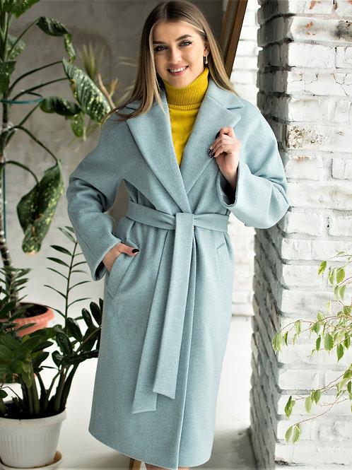 Пальто-халат женское демисезонное длинное