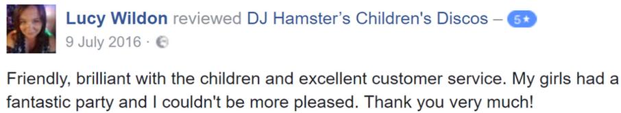 2016 Lucy Wildon - DJ Hamster - Facebook