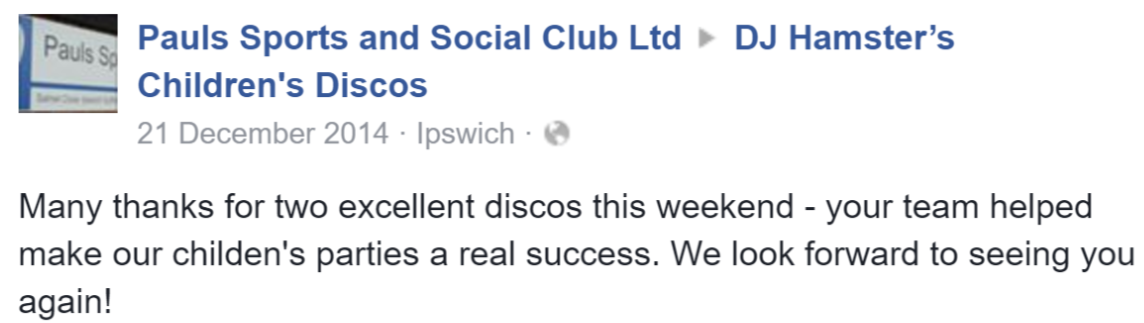 2014 Pauls Sports and Social Club - DJ H