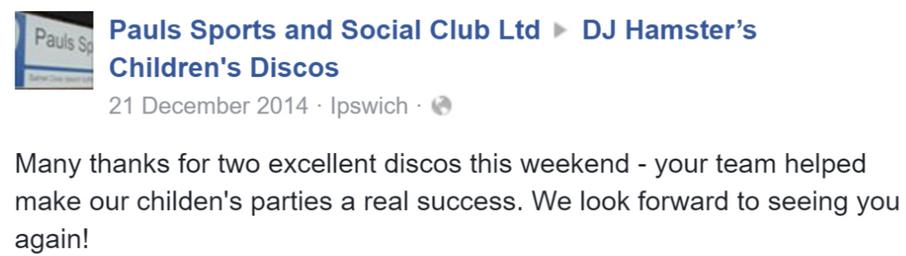 2014 Pauls Sports and Social Club - DJ H