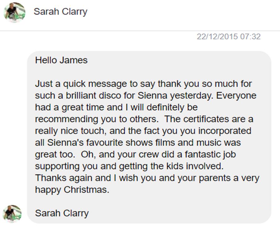 2015 - Sarah Clarry - DJ Hamster - Faceb