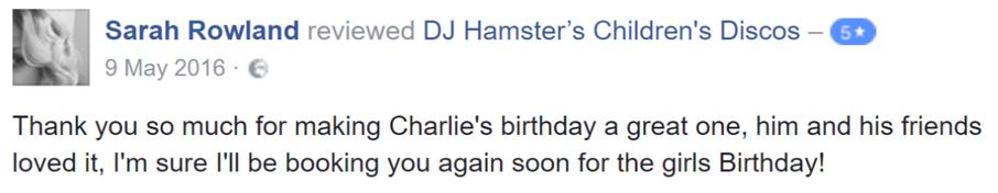 2016 Sarah Rowland - DJ Hamster - Facebo
