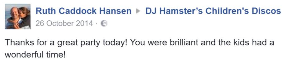 2014 Ruth Caddock - DJ Hamster - Faceboo
