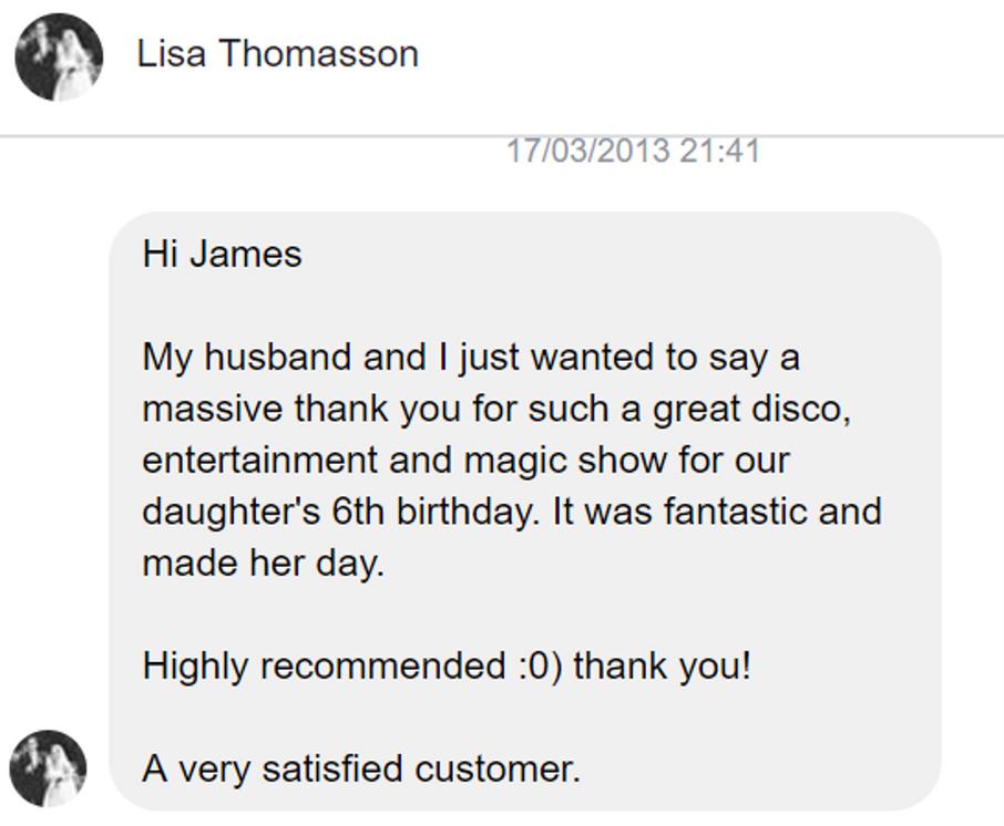 2013 - Lisa Thomasson - DJ Hamster - Fac