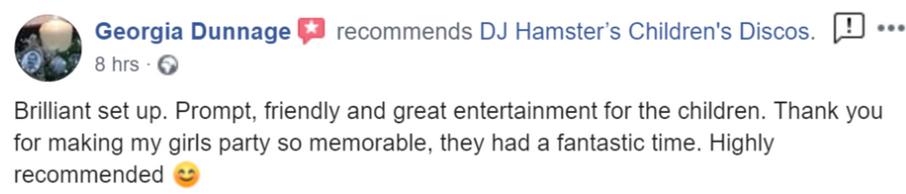 2019 - Georgia Dunnage - DJ Hamster - Fa