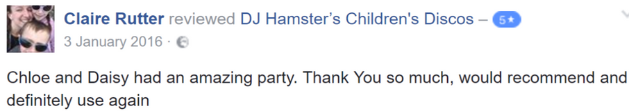 2016 Claire Rutter - DJ Hamster - Facebo