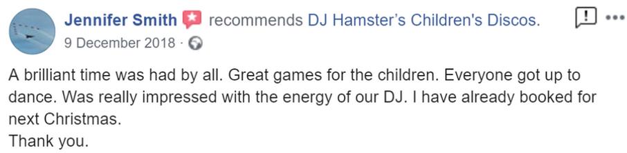 2018 - Jennifer Smith - DJ Hamster - Fac