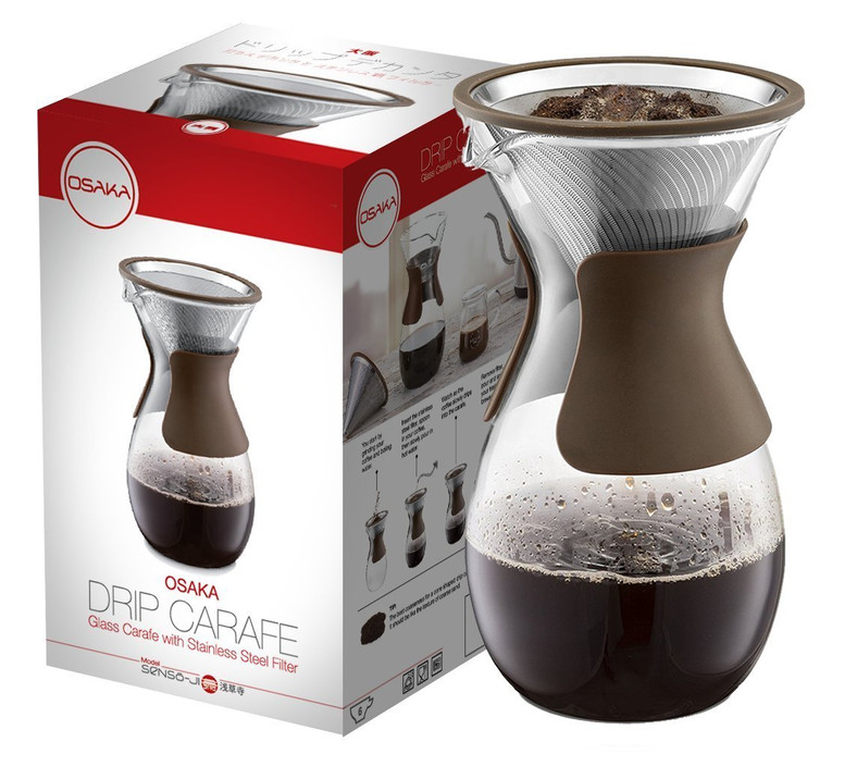 Osaka Pour OverCoffee Maker with Reusable Stainless Steel Drip Filter