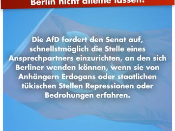 Senat darf regimekritische Türken in Berlin nicht alleine lassen!