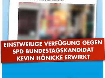 Einstweilige Verfügung gegen Hönicke (SPD) erwirkt