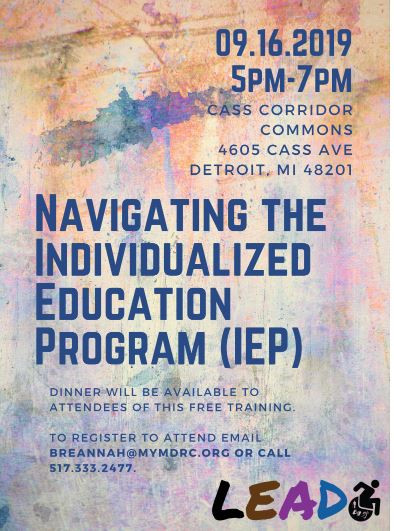 Navigating the Individualized Education Program (IEP) flyer