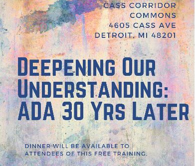 Deepening Our Understanding:  ADA 30 Yrs Later