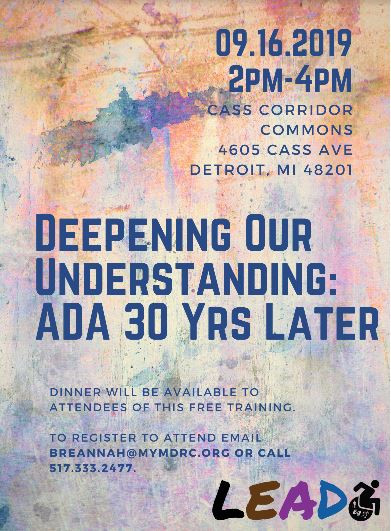 Deepening Our Understanding:  ADA 30 Yrs Later flyer