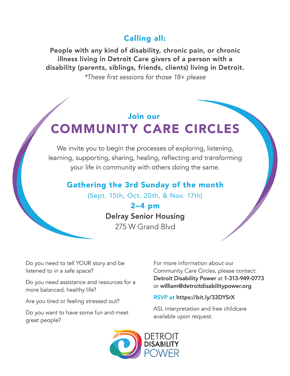 Community Care Circles flyer