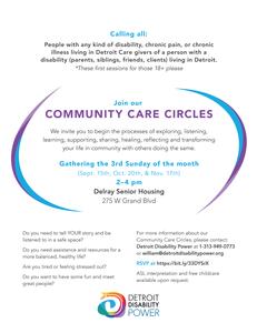 Community Care Circles flyer