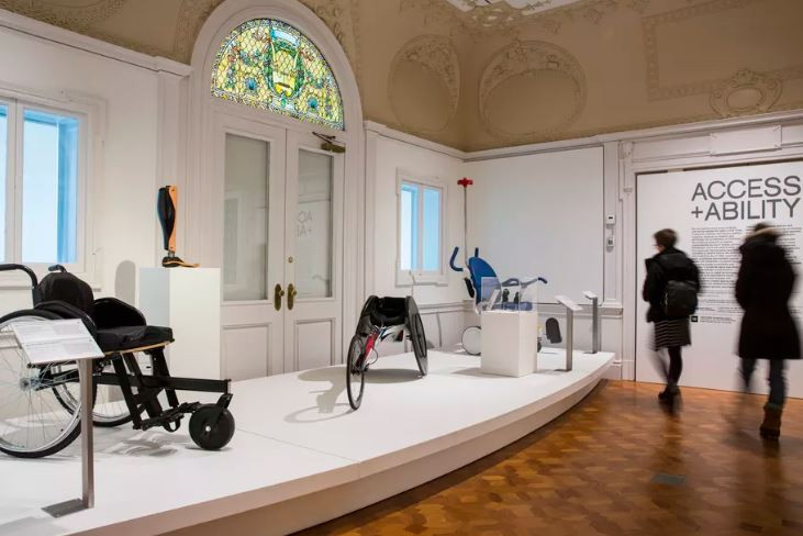 "Installation view of ""Access+Ability,"" a recent exhibit at the Cooper Hewitt, Smithsonian Design Museum that featured 70 works of inclusive design. Chris J. Gauthier"
