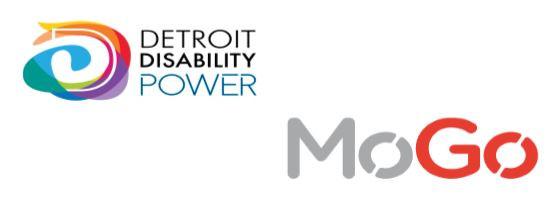 Detroit Disability Power logo and MoGo logo