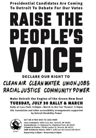 Raise the People's Voice flyer
