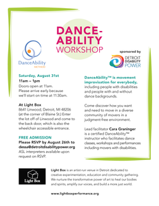 DANCE-ABILITY WORKSHOP flyer