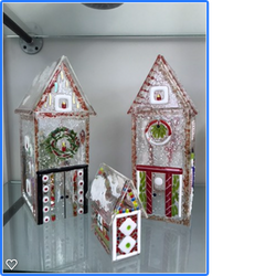 Fused Glass Christmas Houses