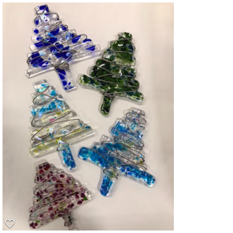 Fused Glass Modern Christmas Trees
