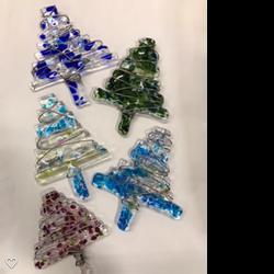 Fused Glass Modern Christmas Trees