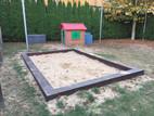 Sandkasten für die Kleinsten im Hasengarten