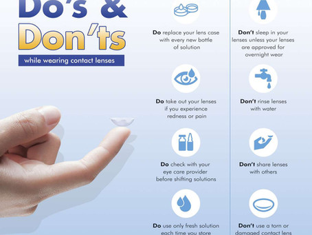 The Do's & Don'ts While Wearing Contact Lenses