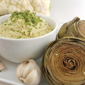 Healing Artichokes & Cauliflower Chive Hummus