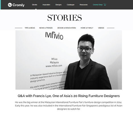 Q&A with Francis Lye, one of Asia's rising furniture designers