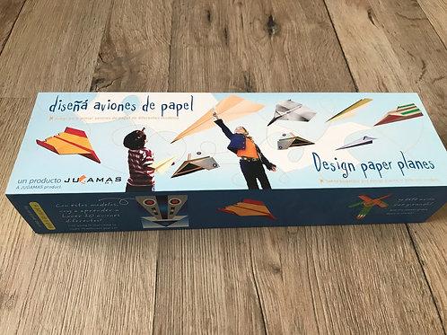 Diseña aviones de papel