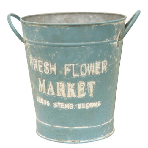 Vintage Fresh Flower Market Bucket