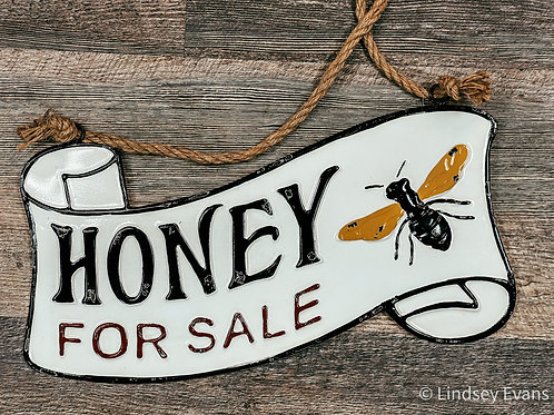 Honey For Sale Vintage Metal Hanger