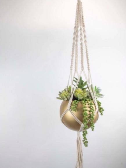Round Metal Hanging Pot