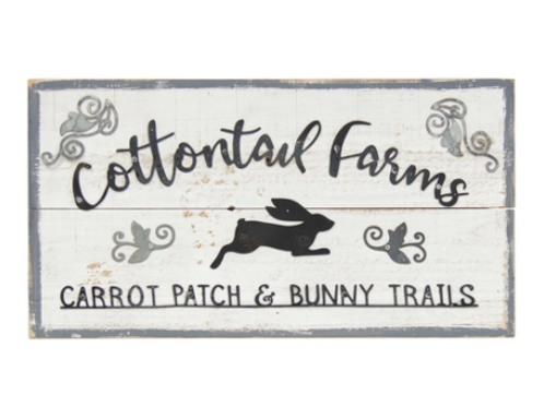 Cottontail Farms Wood Sign