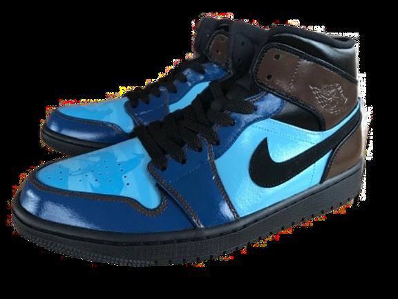 custom Kings of Leon sneakers by artist Jack Fowler