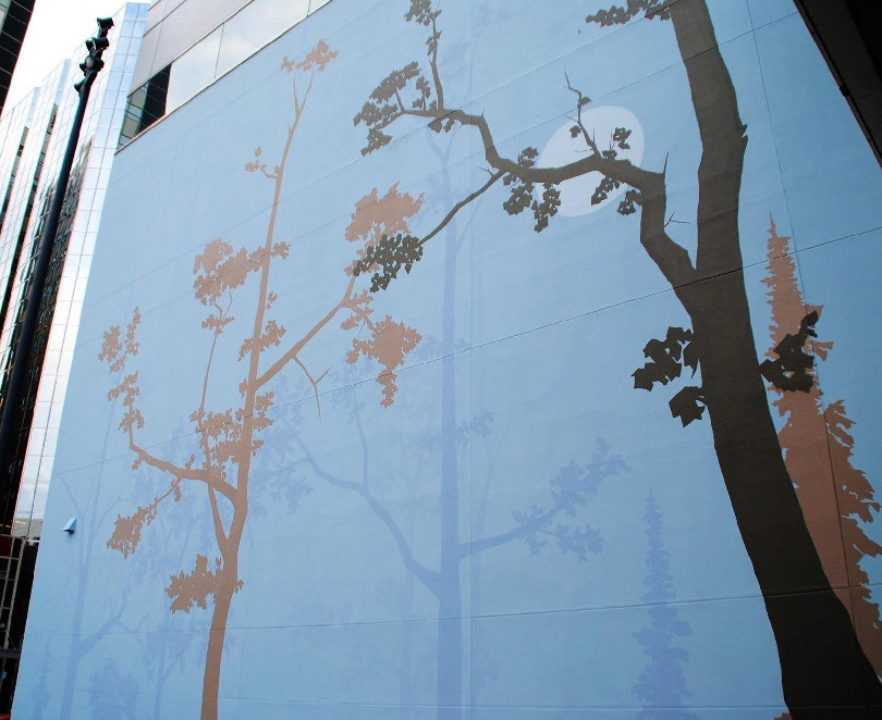 Downtown Forest (west wall)